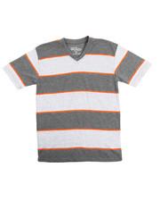 Tops - S/S Stripe V-Neck Tee (8-20)