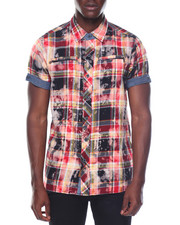 Buyers Picks - Bleached Plaid S/S Shirt