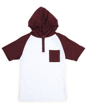 Henleys - Raglan Hooded Henley Tee (8-20)-2108977
