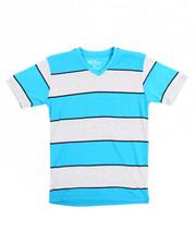 Sizes 8-20 - Big Kids - S/S Stripe V-Neck Tee (8-20)