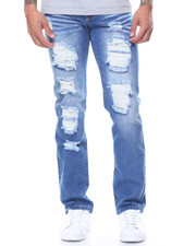 Jeans & Pants - Destroyed Jeans W Wiskers