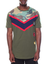 Shirts - Camo Color Block Tee
