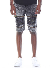 Men - Studded Bleached Short