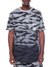 Men - Scoop Hem Tiger Print Tee