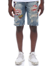 Reason - Patchwork Denim Shorts