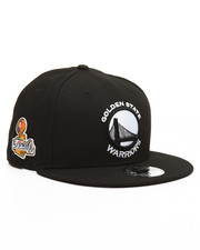 New Era - 9Fifty Golden State Warriors Black & White 2017 Champions Patch Hat