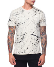 T-Shirts - Pattern Printed S/S Ripped Tee