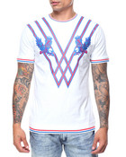 Eagle Embroidered Ribbed Bottom S/S Tee