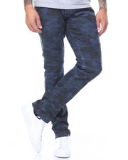 Jeans & Pants - Camo Twill Moto Jeans