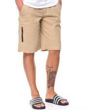 Shorts - Side Zipper Twill Short