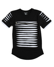 Boys - Zip Trim Razor Slashed Tee (8-20)-2113745