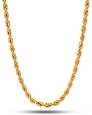 King Ice - 14k Gold Stainless Steel Dookie Rope Chain