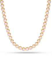 King Ice - 14k Gold 6mm Bezel Necklace