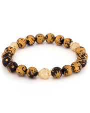 King Ice - Onyx Gold Dragon Buddha Bead Meditation Bracelet