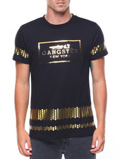 Shirts - Gangster Raised Gold Foil T-shirt