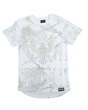 SWITCH - S/S Graphic All Over Foil Print Tee (8-20)