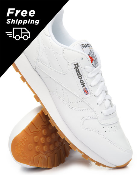 aa7a5138b93 Buy CL Leather Gum Sneakers Men s Footwear from Reebok. Find Reebok ...