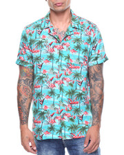 Shirts - S/S Flamingo Printed Woven