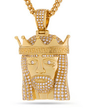 King Ice - 14k Gold King Of Kings Necklace