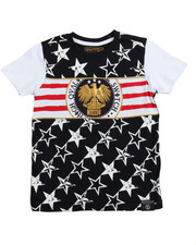SWITCH - Switch Americana Tee w/Gold Piping (4-7)