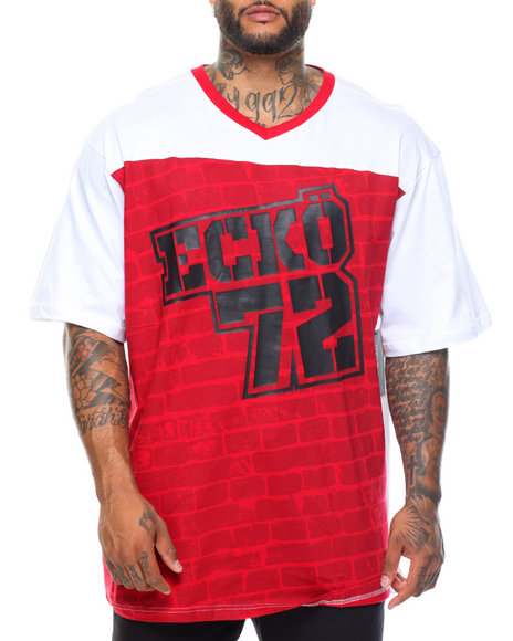 Ecko - Block Style S/S V-Neck Tee (B&T)