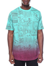 Men - Newspaper Print Tee