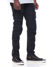 Men - Coated Cargo Jeans