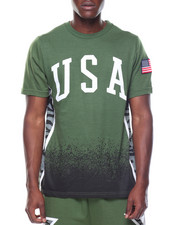 T-Shirts - Usa Tiger Print T