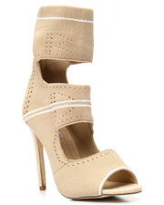 Cape Robbin - Knit Cut Out Hi Heel Shoe