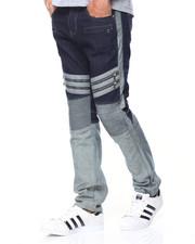 Men - 2-Tone Biker Jeans
