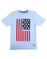 Boys - S/S Crew Neck Graphic Flagtee (8-20)