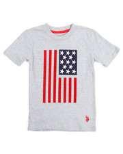 Boys - S/S Crew Neck Graphic Flagtee (4-7)