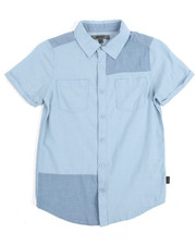 Boys - S/S Chambray Patch Woven (8-20)