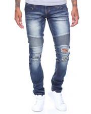 Kilogram - K G Slim Biker Denim Jeans-2037060