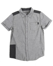 Boys - Chambray Repaired Roll Sleeve Woven (8-20)