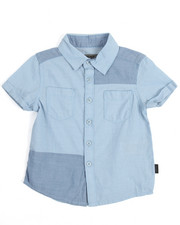 Boys - S/S Chambray Patch Woven (2T-4T)