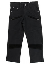 Sizes 4-7x - Kids - Faux Suede Trim Moto Pant (4-7)