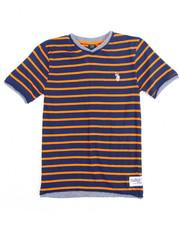 Tops - S/S 2 Fer Yarn Dyed V-neck Tee (8-20