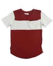 Boys - Color Block Elongated Tee (8-20)