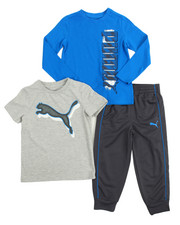 Puma - 3 Piece Tees & Jogger Set (4-7)