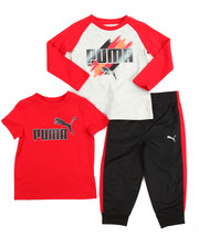 Puma - 3 Piece Tees & Jogger Set (2T-4T)