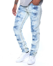 Summer-Mens - Rips Tie Dye Jeans