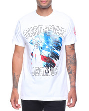 Men - S/S Red, White & Blue American Native  Graphic Tee