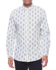 Button-downs - L/S Diamond Woven