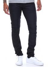 Kilogram - Coated Moto Rip Jeans
