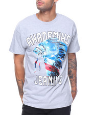 Akademiks - S/S Red, White & Blue American Native  Graphic Tee