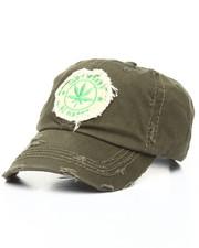 Men - Marijuana Plant Distressed Dad Hat