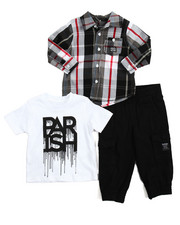 Infant & Newborn - 3 Piece Woven, Tee, & Jogger Set (Infant)