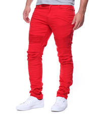 Men - Premium Wash Crunch Knee Moto Pants