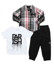 Sets - Woven Tee Jogger 3 Piece Set (4-7)